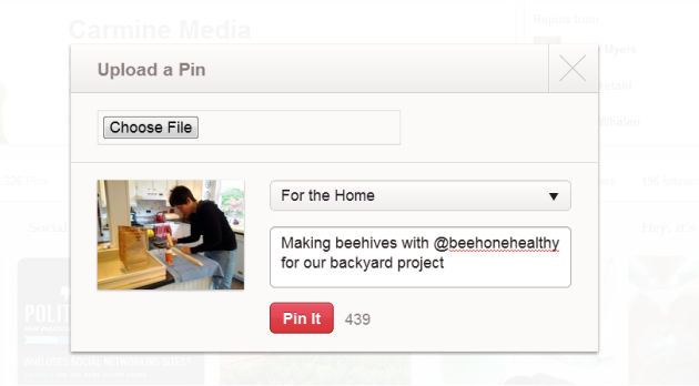 Using Buffer App in Pinterest