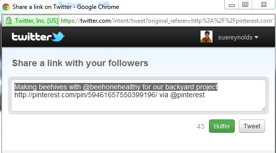 scheduled tweet for pinterest