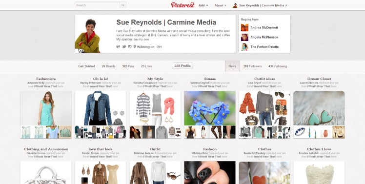 Pinterest news section