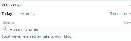 Wordpress referrers