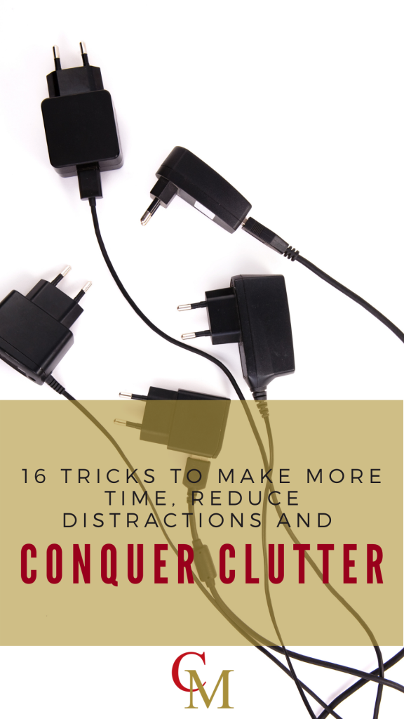 Chargers causing clutter